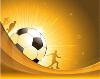 Gold soccer background illustration Royalty Free Stock Photos