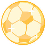 Gold soccer ball Stock Photos
