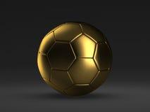 Gold soccer ball Stock Image