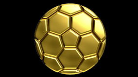 Gold soccer ball stock footage