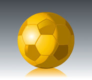 Gold Soccer Ball Cup. Vector drawing Royalty Free Stock Images