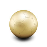Gold soccer ball isolate on white Royalty Free Stock Photography