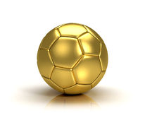 Gold soccer ball trophy Royalty Free Stock Photo