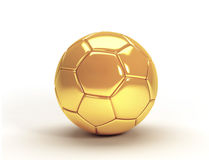 Gold soccer ball trophy Stock Images