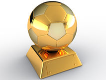 Gold soccer ball #1 Stock Photography