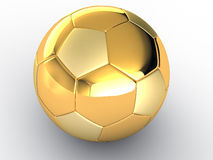 Gold soccer ball #2 royalty free illustration