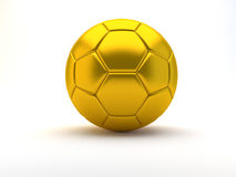Gold soccer ball. On white - 3d render Stock Image
