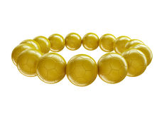 Gold soccer balls Royalty Free Stock Photos