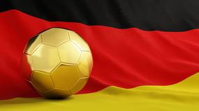 Gold soccer Germany Stock Image