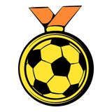 Gold soccer medal icon, icon cartoon Royalty Free Stock Photography