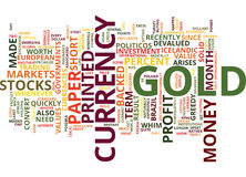 Gold A Solid Investment Text Background  Word Cloud Concept Royalty Free Stock Photos
