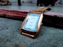 Sonata watch. Gold Sonata watch royalty free stock image