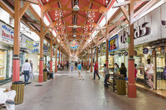 Gold Souk Dubai. Famous gold souk (market) entrance in Dubai, United Arab Emirates stock photography