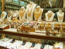 Gold Souk. It is a traditional market in Dubai, located in Deira Stock Photo