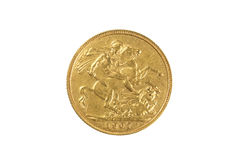Gold Sovereign Stock Photos