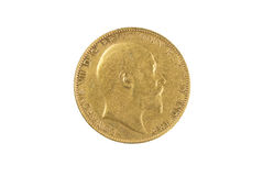 Gold Sovereign Royalty Free Stock Photos