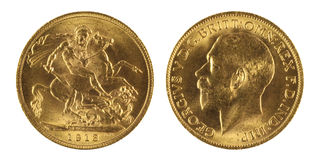 Gold Sovereign Stock Images