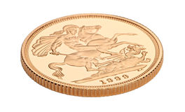 Gold sovereign coin Royalty Free Stock Photo