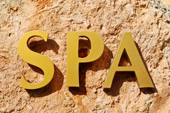 Gold Spa sign Royalty Free Stock Images