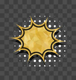 Gold sparkle comic text star bubble Stock Photography