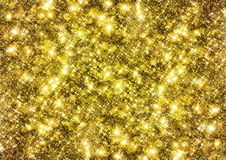 Gold sparkle glitter background Royalty Free Stock Photos