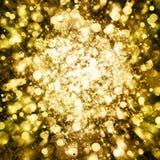 Gold sparkle glitter background Stock Images