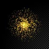 Gold sparkle glitter background Stock Image