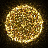 Gold sparkle glitter explosion background Stock Images