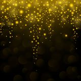 Gold sparkle glitter falling background Royalty Free Stock Images