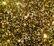 Gold sparkle glitter sequins background Royalty Free Stock Photography