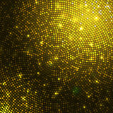 Gold sparkle glitter sequins mosaic background. Shimmering textured tile Royalty Free Stock Photo