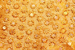 Gold sparkle glittering background Royalty Free Stock Images