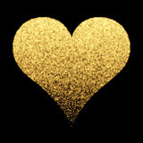 Gold sparkle heart background Stock Photo