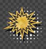 Gold sparkle star comic text bubble Royalty Free Stock Image