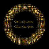 Gold sparkles Banners. Abstract Beauty Merry Christmas and New Y. Ear Background . Vector illustration EPS10 Stock Image