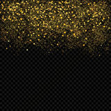 Gold sparkles confetti. Gold glitter abstract background. Stock Photography