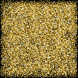 Gold sparkles glitter texture Black background Royalty Free Stock Photography