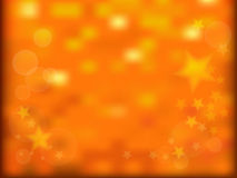 Gold sparkles and stars background Stock Image