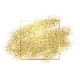 Gold sparkles on white background. Gold glitter background. Royalty Free Stock Photography