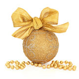 Gold Sparkling Bauble Stock Photo