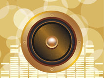 Gold speaker Royalty Free Stock Photos