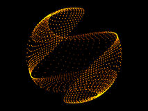 Gold sphere and black background. Abstract Royalty Free Stock Photography
