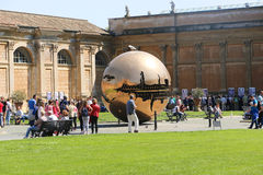 Gold Sphere - Vatican Museum Stock Photos