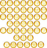 Gold Spherical Fonts  Stock Images