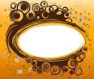 Gold spiral border. With rings and curls Stock Photos