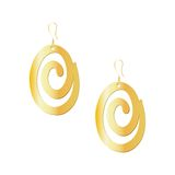 Gold spiral earrings isolated on white background Royalty Free Stock Image