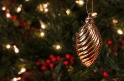 Gold Spiral Ornament Stock Image