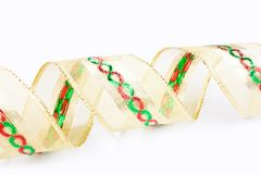 Gold spiral ribbon Royalty Free Stock Images