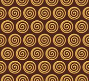 Gold spiral vector seamless background Stock Images