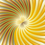 Gold spiral vortex Royalty Free Stock Images